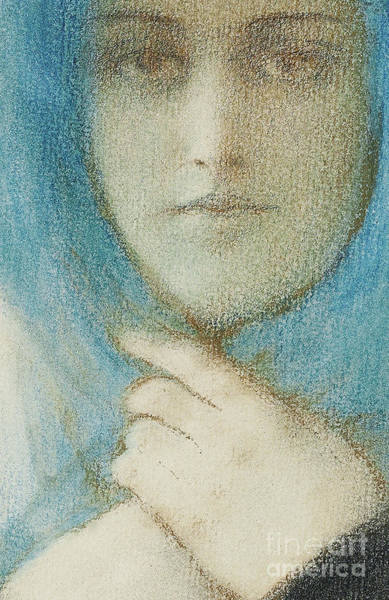 Clematis Wall Art - Pastel - Clematis, Circa 1914 Pastel by Fernand Khnopff