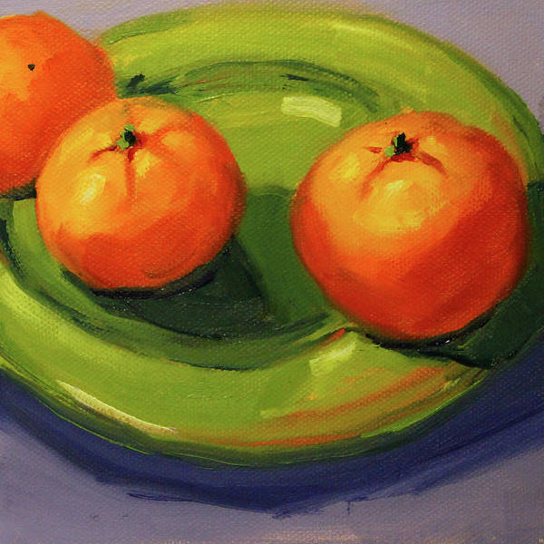 Wall Art - Painting - Clementine 1 by Nancy Merkle