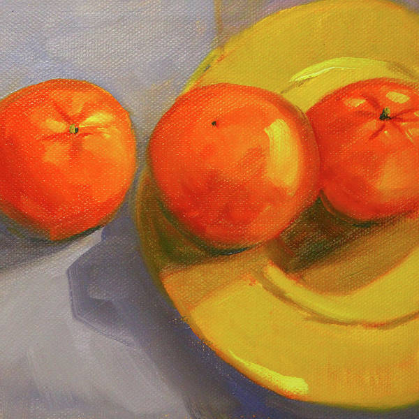 Wall Art - Painting - Clementine 2 by Nancy Merkle