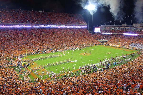 Wall Art - Photograph - Clemson Memorial Stadium Crowded At Night by Filip Hellman