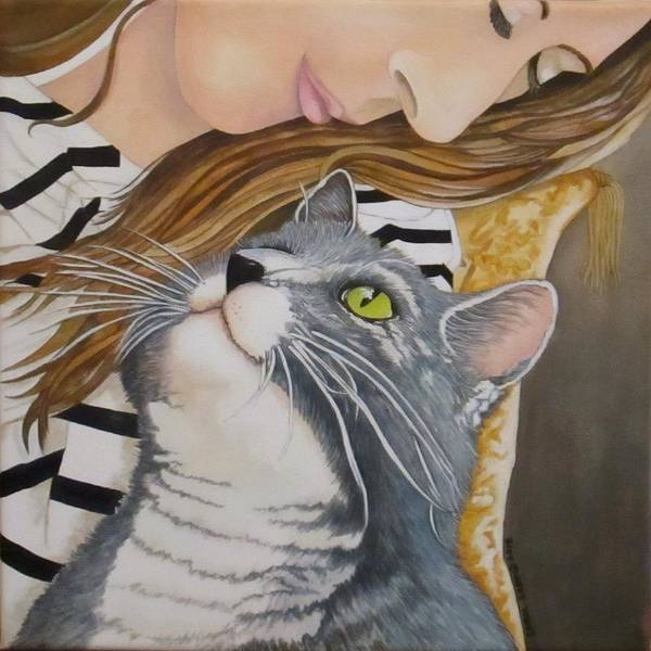 Wall Art - Painting - Cleo And April by Carol Sabo