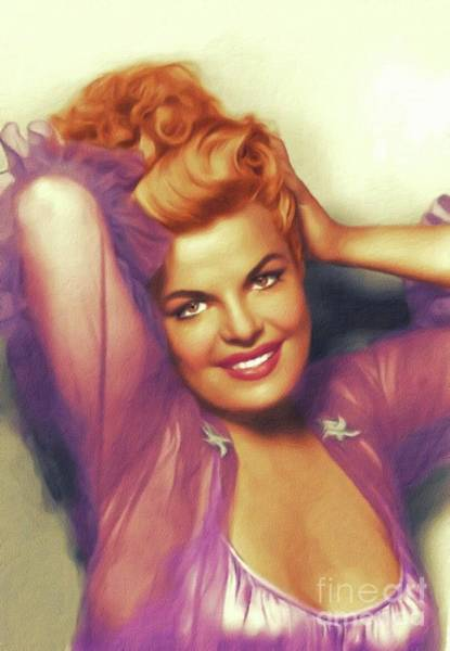 Wall Art - Painting - Cleo Moore, Vintage Actress by John Springfield