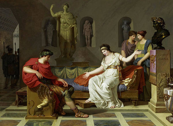 Wall Art - Painting - Cleopatra And Octavian, 1788 by Louis Gauffier