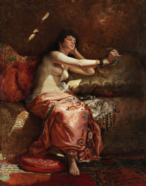 Wall Art - Painting - Cleopatra by Pierre Joseph Mousset