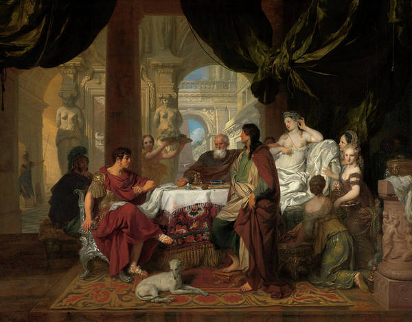 Priceless Painting - Cleopatra's Banquet, 1680 by Gerard de Lairesse