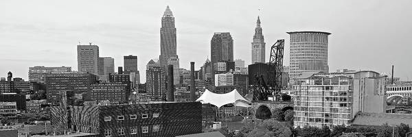 Wall Art - Photograph - Cleveland Grayscale Pano Circa 2018 by Frozen in Time Fine Art Photography