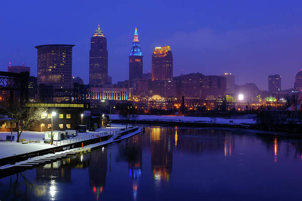 Photograph - Cleveland River Reflections by Clint Buhler