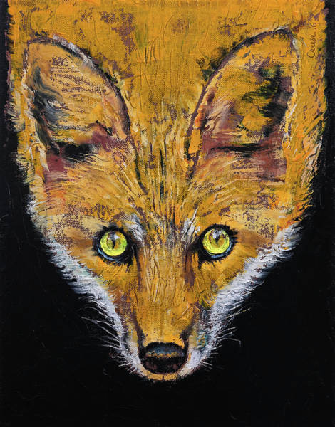 Looking Up Painting - Clever Fox by Michael Creese