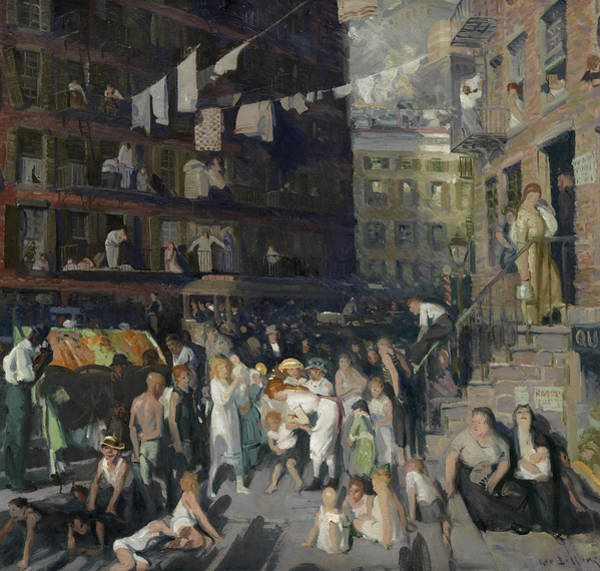 Wall Art - Painting - Cliff Dwellers, 1913 by George Bellows