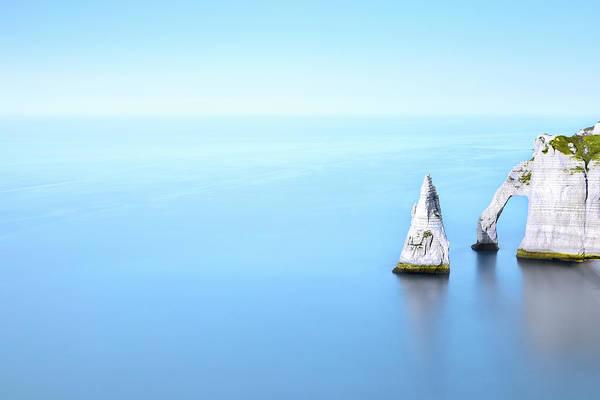 Etretat Photograph - Cliff In Sea by Christophe Kiciak