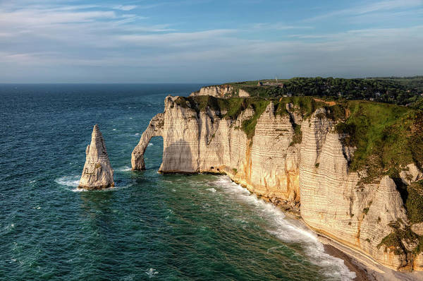 Natural Arch Photograph - Cliff Needle In Etretat, France by Rogdy Espinoza Photography