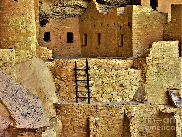Wall Art - Photograph - Cliff Palace Rooms by Suzanne Wilkinson