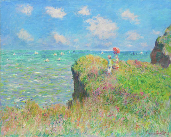 Wall Art - Painting - Cliff Walk At Pourville - Digital Remastered Edition by Claude Monet