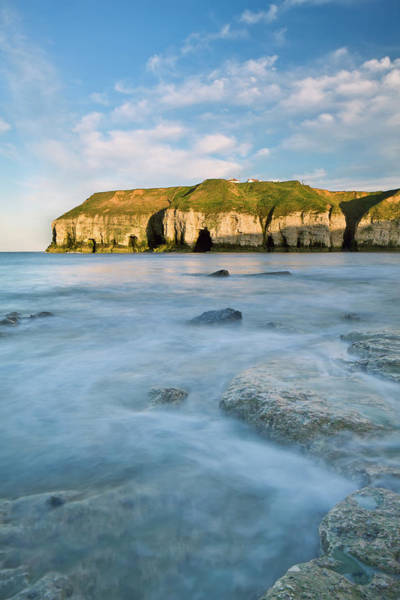 Underwater Landscape Photograph - Cliffs Along The Coast Of Thornwick Bay by Lizzie Shepherd / Design Pics