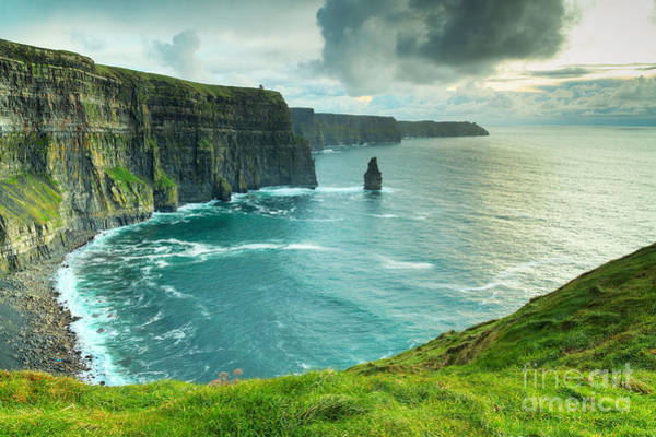 Cliffs Wall Art - Photograph - Cliffs Of Moher At Sunset, Co. Clare by Kwiatek7