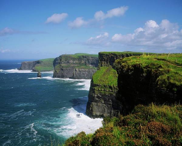 The Burren Photograph - Cliffs Of Moher, Co Clare, Ireland by Design Pics/the Irish Image Collection