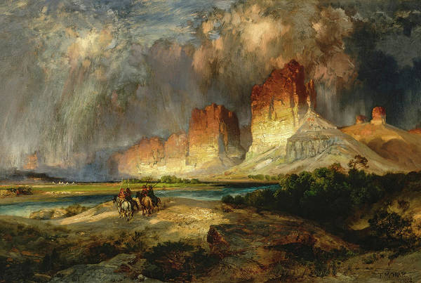 Wall Art - Painting - Cliffs Of The Upper Colorado River, Wyoming Territory, 1882 by Thomas Moran