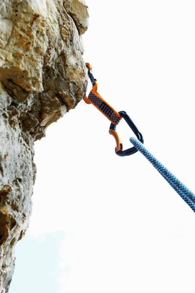 Hanging Rock Photograph - Climbing by Adie Bush