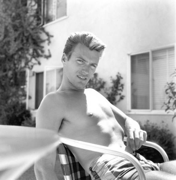Clint Eastwood Photograph - Clint At Home by Michael Ochs Archives
