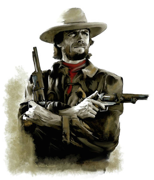 Wall Art - Painting - Clint Eastwood American Outlaw by Iconic Images Art Gallery David Pucciarelli