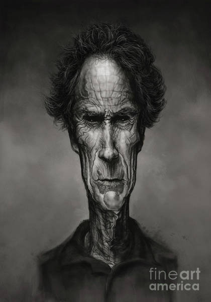 Clint Eastwood Drawing - Clint Eastwood by Andre Koekemoer