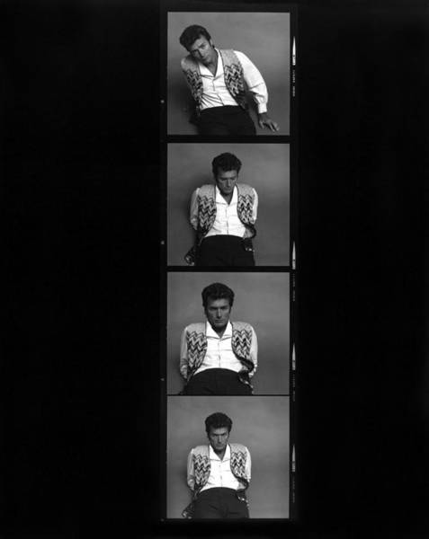 Photograph - Clint Eastwood Contact Sheet by Jack Robinson