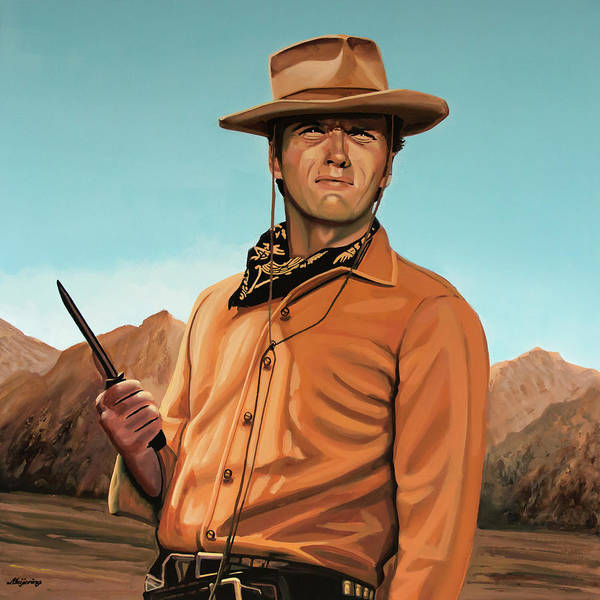 Painting - Clint Eastwood Painting 2 by Paul Meijering