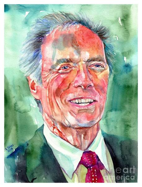 Wall Art - Painting - Clint Eastwood Painting by Suzann Sines