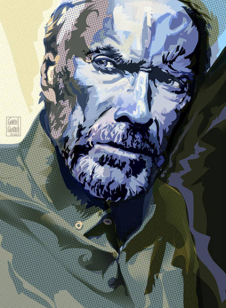 Wall Art - Digital Art - Clint Eastwood Pop Art Portrait by Garth Glazier