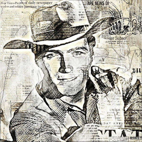 Ugly Digital Art - Clint Eastwood Stars And Media by Alain Doyen