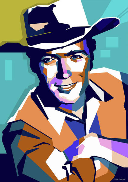 Wall Art - Digital Art - Clint Eastwood by Stars on Art