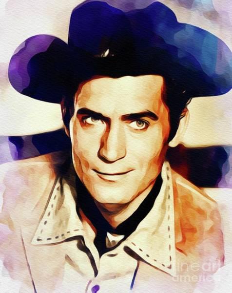 Walkers Painting - Clint Walker, Vintage Actor by John Springfield