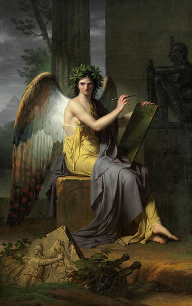 Wall Art - Painting - Clio, Muse Of History, 1800 by Charles Meynier