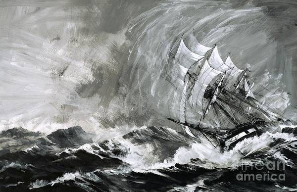 Set Sail Painting - Clipper Rushing To Australia Before The Gold Ran Out by Graham Coton