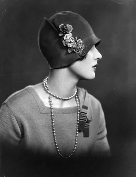 Headshot Photograph - Cloche Hat by Sasha