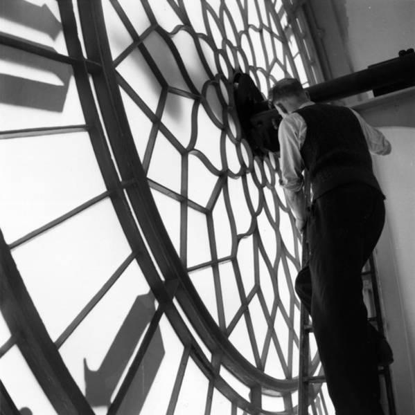 Craftsperson Photograph - Clock Inspection by Frank Martin