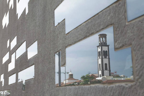 Santa Cruz Island Wall Art - Photograph - Clock Tower Reflected In Modern Building by Cultura Rm Exclusive/ubach/de La Riva