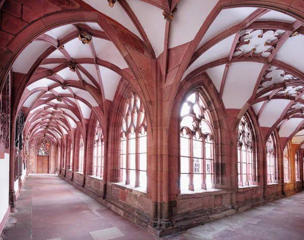 Cloister Photograph - Cloister In The Church Basler Muenster by Andreas Strauss / Look-foto