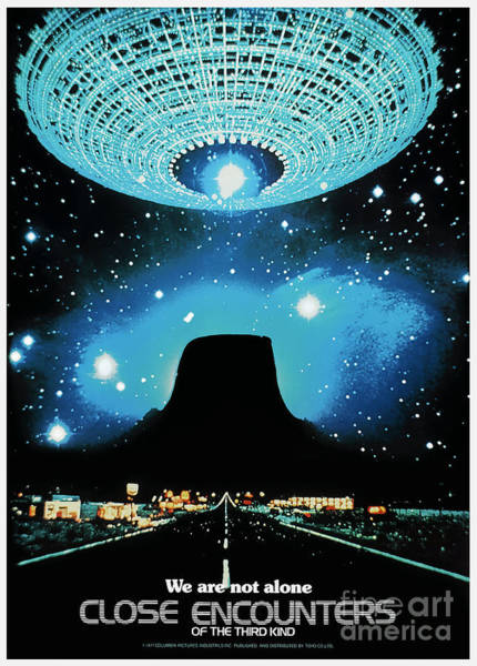 Mixed Media - Close Encounters Of The Third Kind 1977 by Kultur Arts Studios