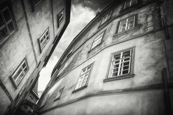 Wall Art - Photograph - Close Neighbors Vienna Austria Black And White by Carol Japp