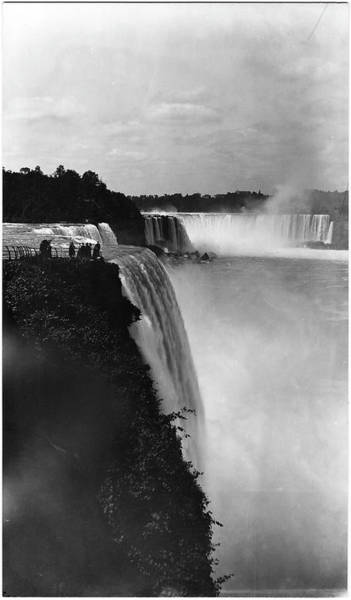 Photograph Photograph - Close Side View Of American Falls by The New York Historical Society