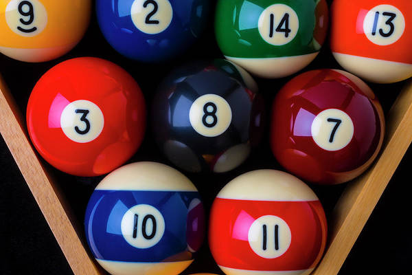Photograph - Close Up Billiard Balls by Garry Gay
