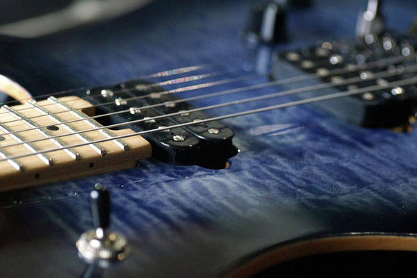 Photograph - Close-up Blue Guitar by Mike Murdock