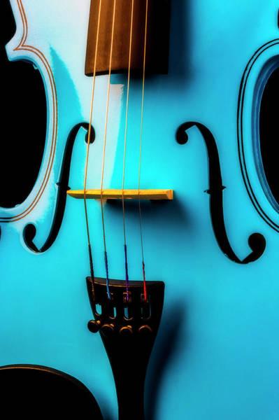 Wall Art - Photograph - Close Up Blue Violin by Garry Gay