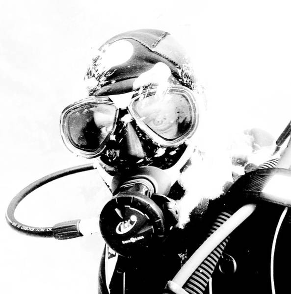 Snorkel Photograph - Close-up Of A Scuba Diver, Yalta by Hans Neleman
