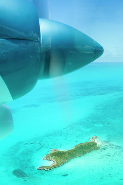 Turks And Caicos Islands Wall Art - Photograph - Close Up Of Airplane Propeller Flying by Lisa Romerein