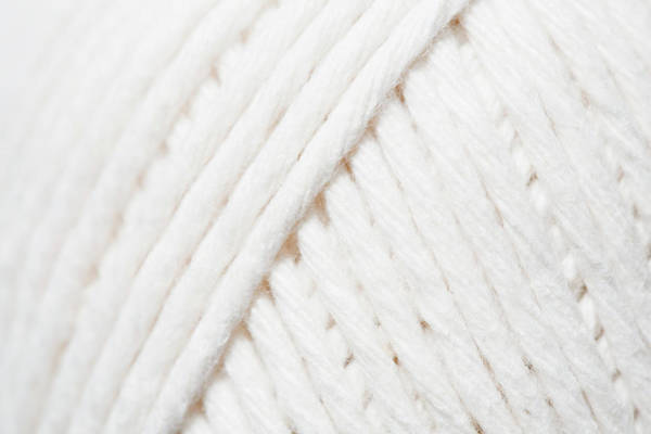 Ball Photograph - Close-up Of Ball Of White Yarn by Kristin Lee