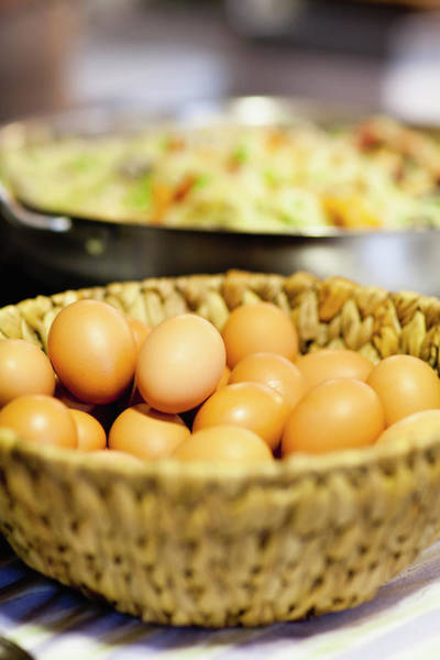 Wall Art - Photograph - Close Up Of Basket Of Eggs by Hybrid Images