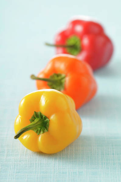 Bell Peppers Photograph - Close-up Of Bell Peppers by Jean-christophe Riou