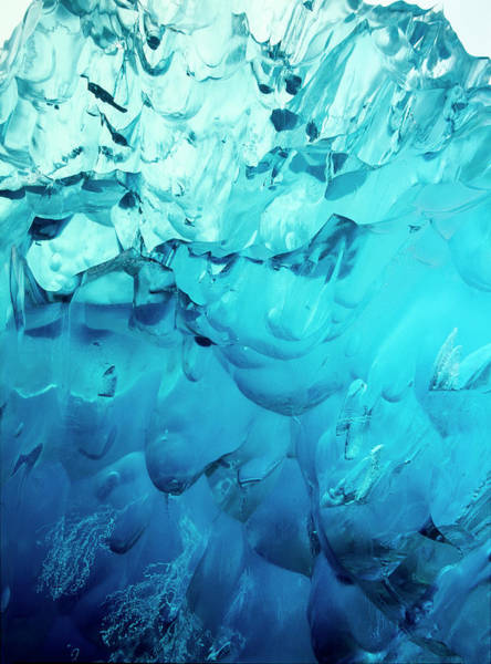 Wall Art - Photograph - Close-up Of Blue Ice In An Iceberg by Stuart Westmorland